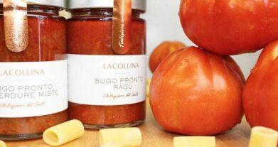 Conserve di pomodoro artigianali: passata, pelati e sugo pronto al ragù fatti con pomodoro romanello
